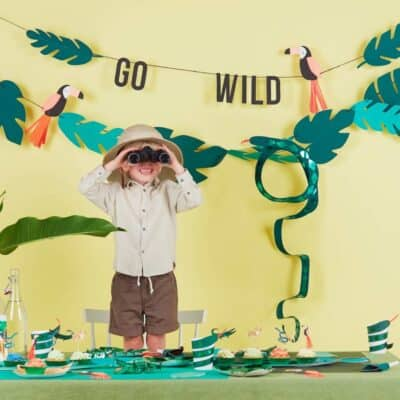 Go Wild met de hippe themafeestjes jungle en safari