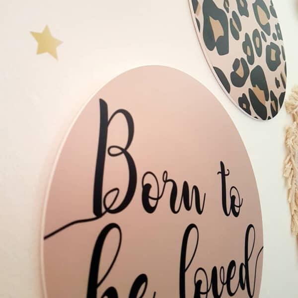 muurcirkels babykamer born to be loved panterprint