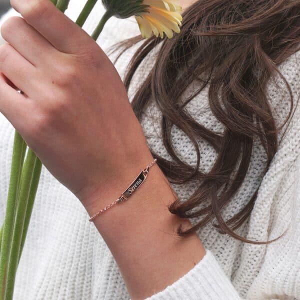 gepersonaliseerde armband met naam classic bar