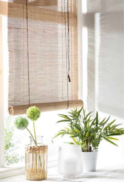 bamboe raambekleding