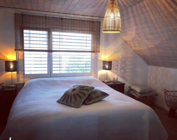 bamboe raambekleding slaapkamer rolgordijnen