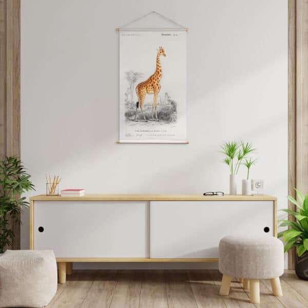Textielposter Giraf Charles D' Orbigny wanderschoon