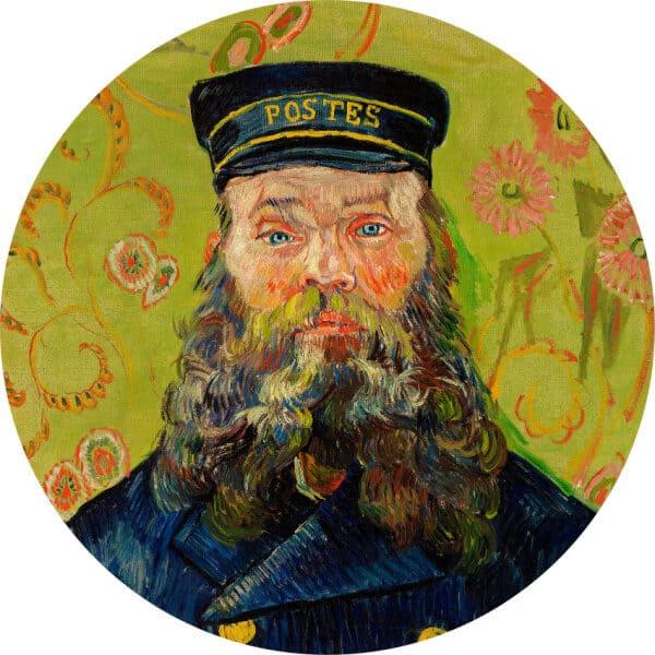 Wandcirkel portret The Postman Vincent van Gogh (1888)