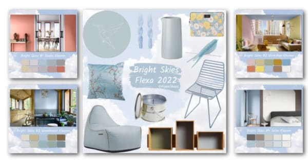 bright skies flexa color of the year 2022
