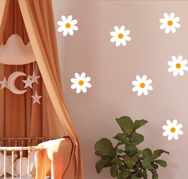 Muursticker daisy flowers - bloemen